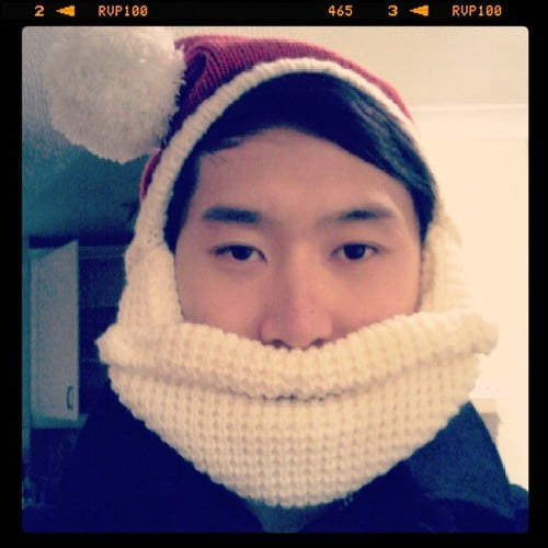 A Santa Hat with a Beard! | Men's Hats for Winter