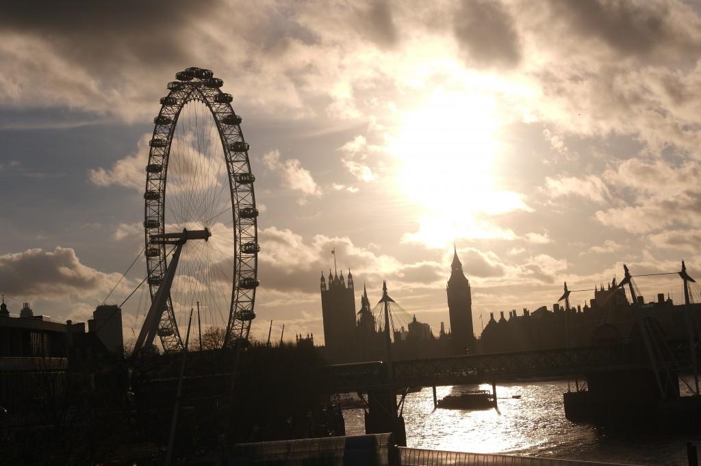 Waterloo Bridge - The London Eye and Big Ben
