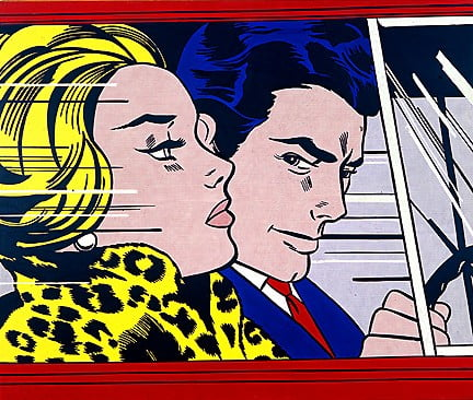 In The Car by Roy Lichtenstein