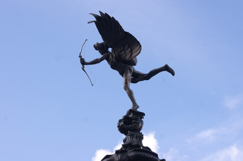 A Skateboard Graveyard & Statue of Anteros (Eros) | Photos of London