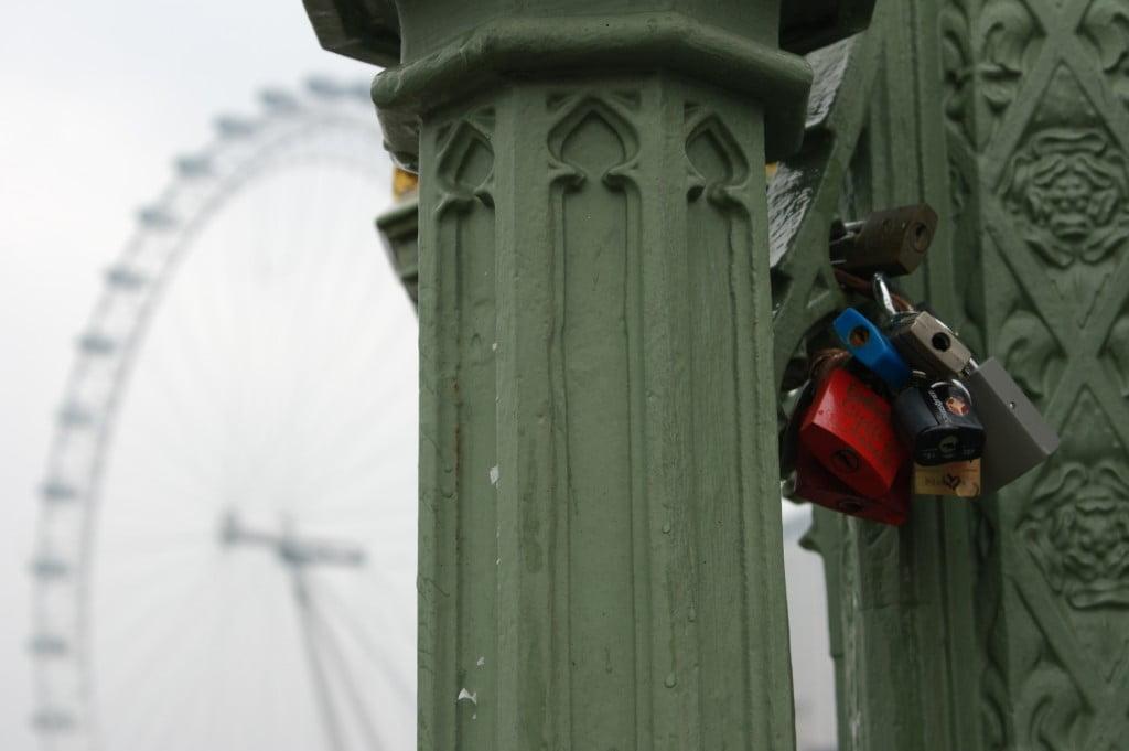 Love locks, London Eye, London
