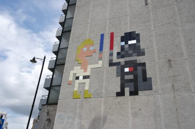 Luke Skywalker and Darth Vader - Street Art, Shoreditch