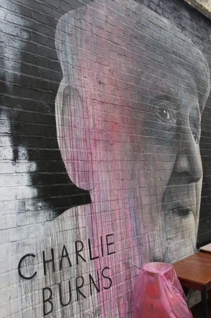 Charlie Burns, Shoreditch street art
