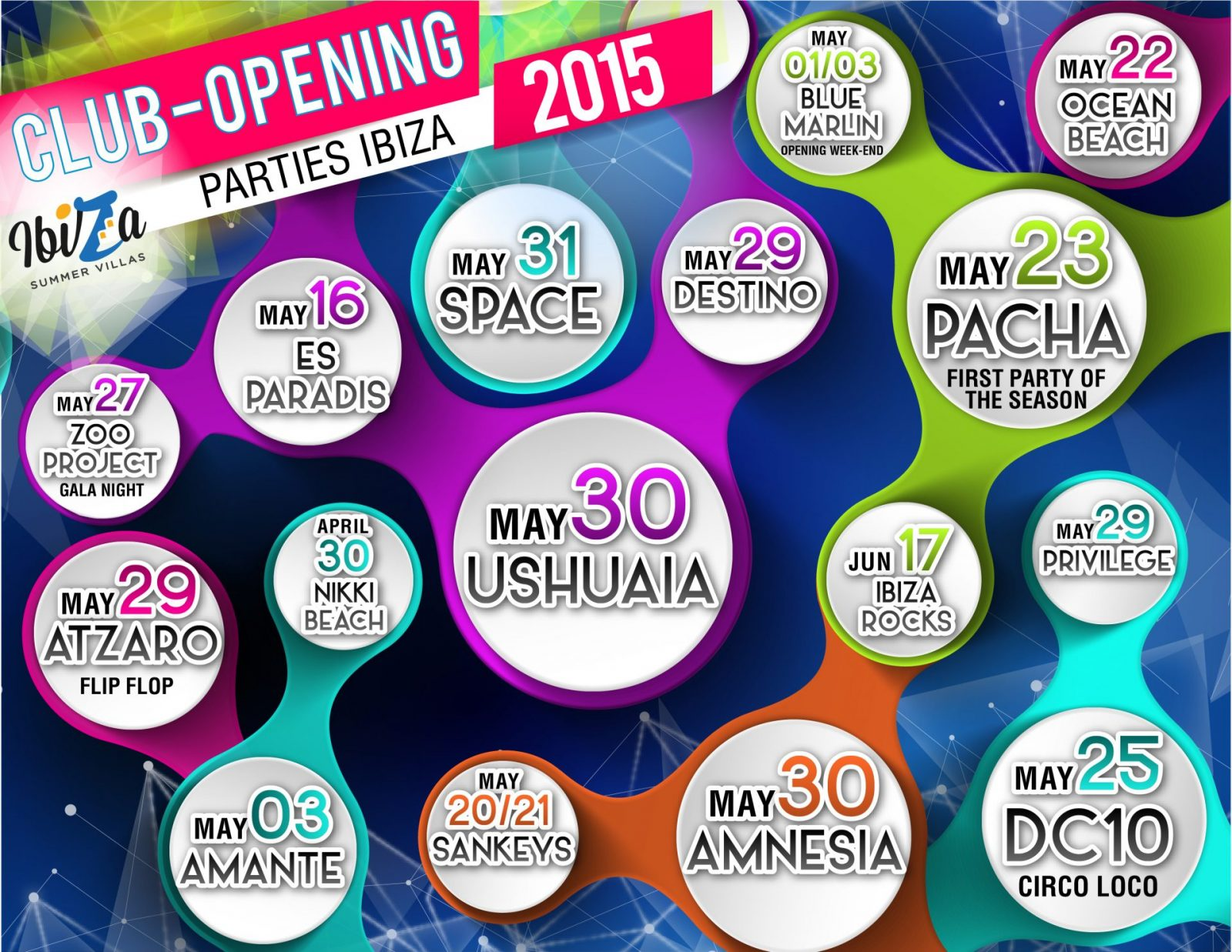 Best Ibiza Club-Opening Parties & Summer Events Guide 2015