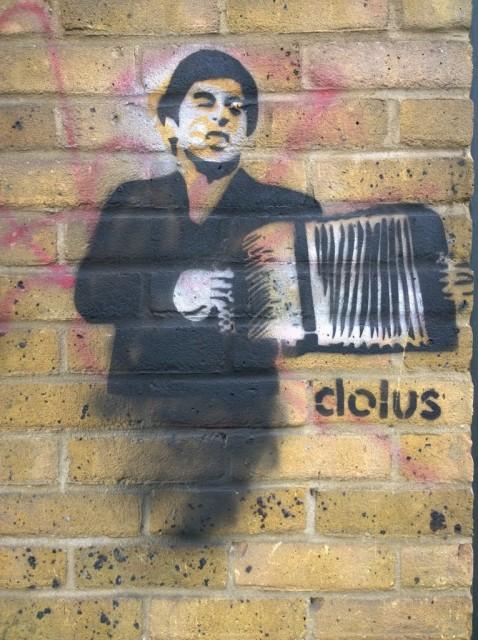 Scareface Tony Montana - Shoreditch street art by Clolus