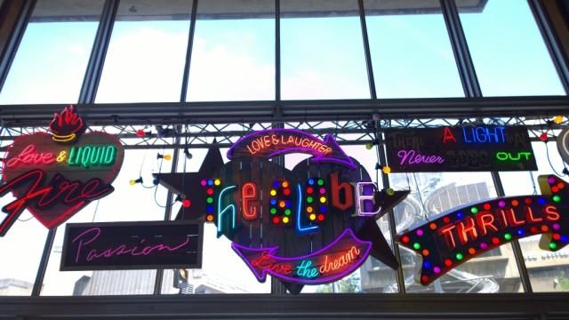 Love and liquid fire neon sign Chris Bracey