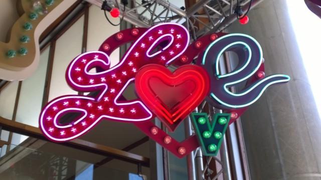 Love neon sign Chris Bracey