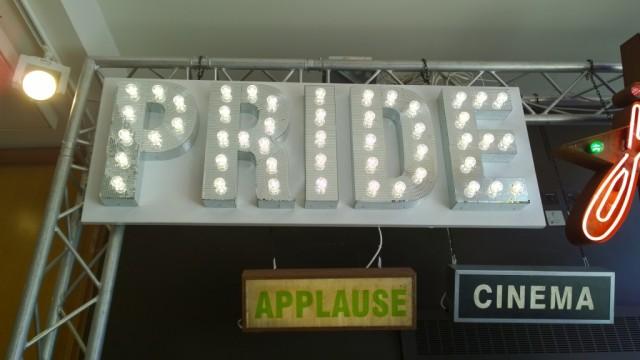 Pride neon sign Chris Bracey