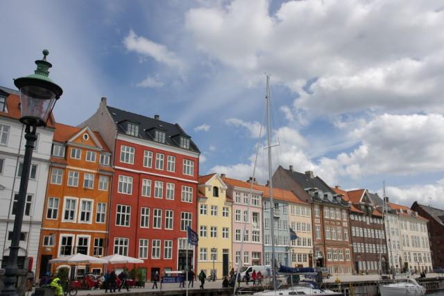 Row of colourful buildings, Nyhavn, Copenhagen