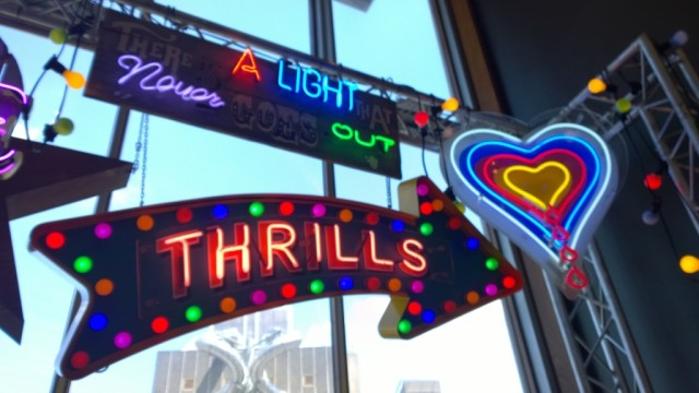 There is a light that never goes out neon sign Chris Bracey