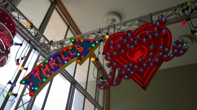 Thrills neon sign Chris Bracey