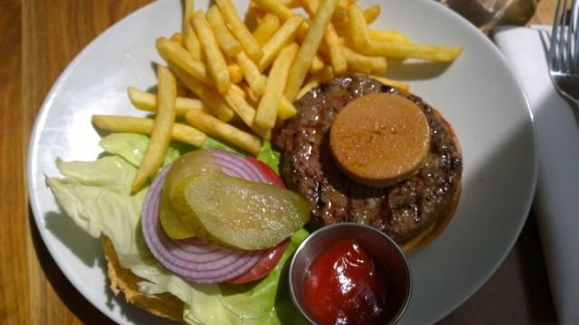 Foie Gras burger Black and Blue restaurant Waterloo