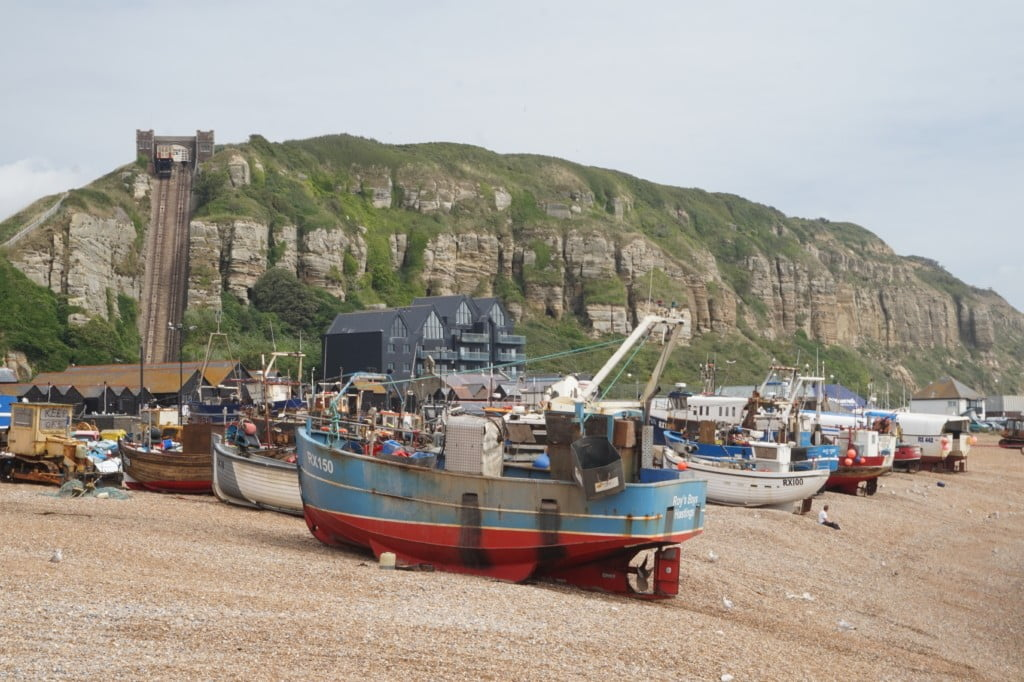 A Day a Trip to Hastings, Kent: Pirate Day, Hastings Castle & Beach