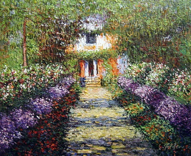 Painting of his house in Giverny