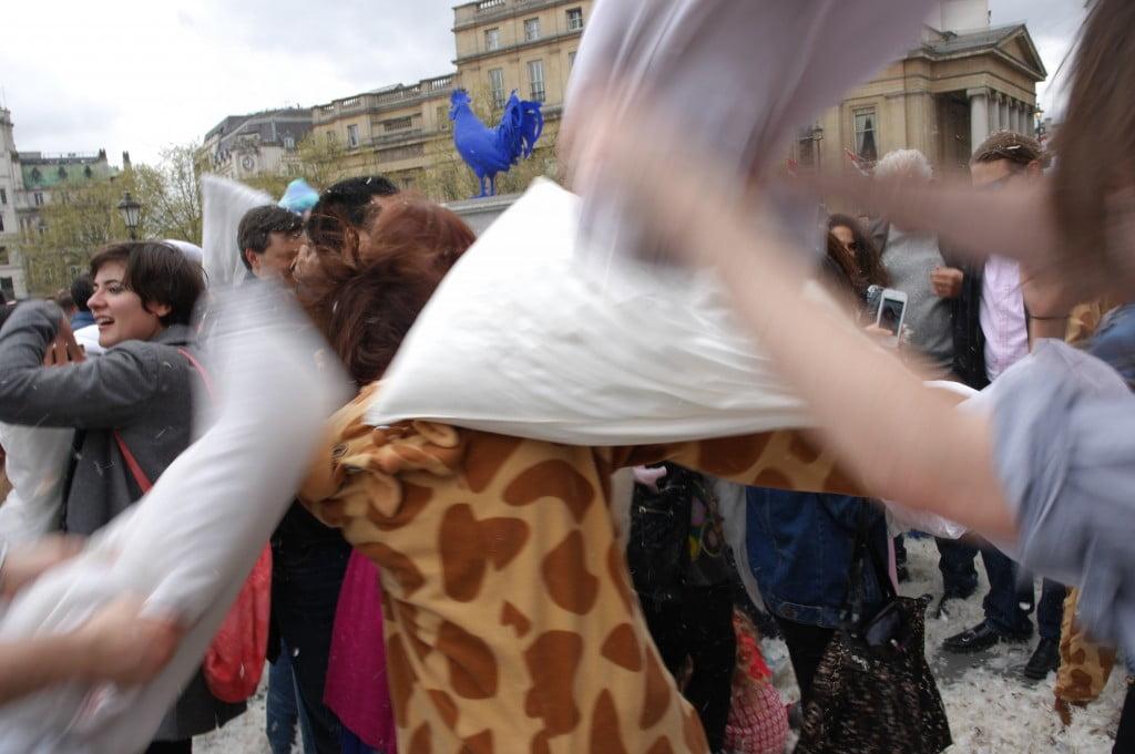 Photos: International Pillow Fight Day 2014, Trafalgar Square 15