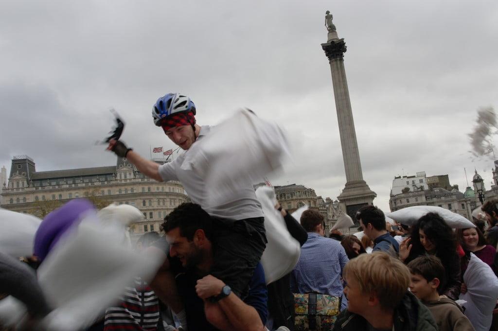Photos: International Pillow Fight Day 2014, Trafalgar Square 7