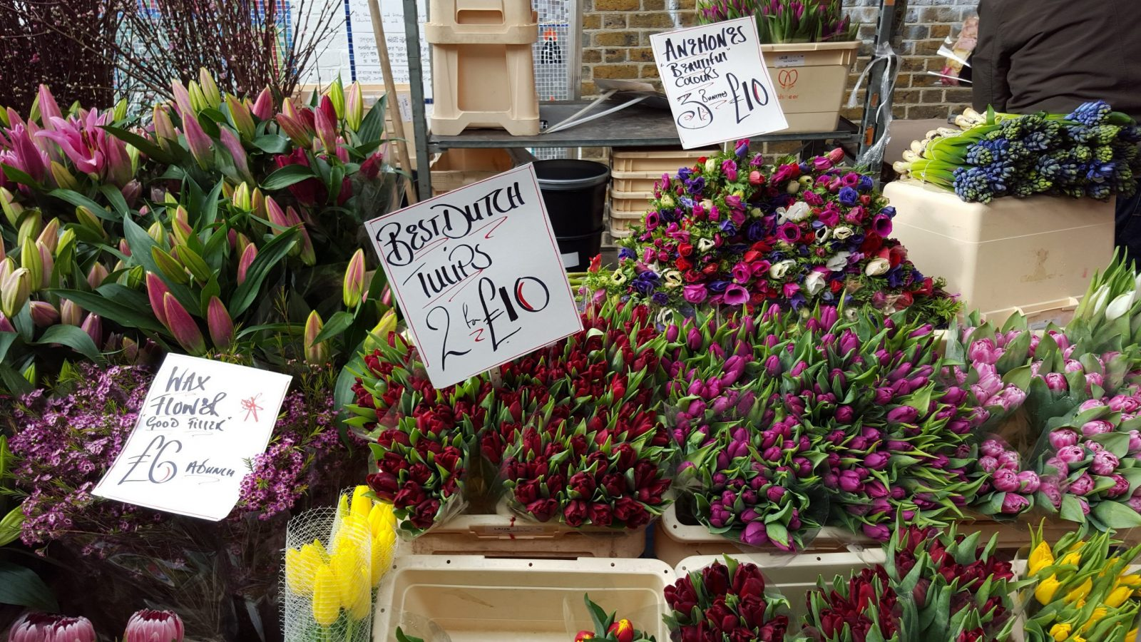 Columbia Road Flower Market prices