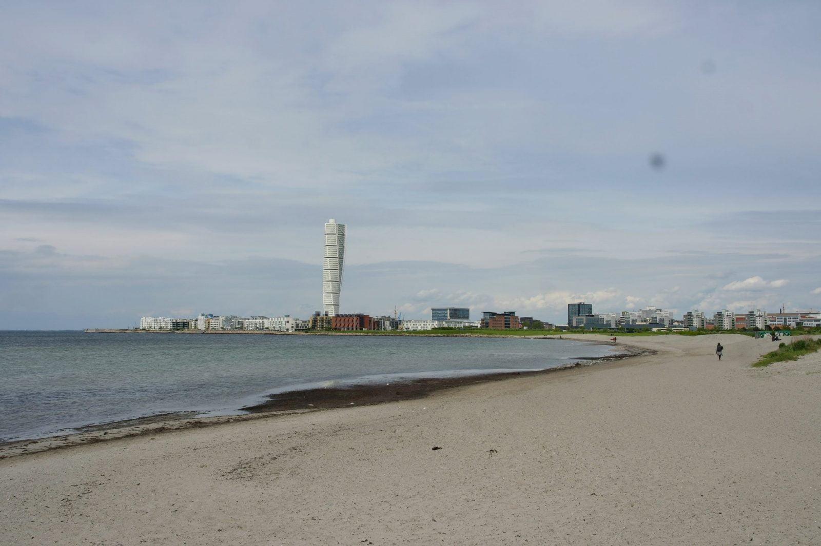 Turning Torso, Malmö beach